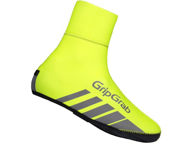 GripGrab RaceThermo Hi-Vis Hi-Vis zimowe wodoodporne ochraniacze na buty, fluo yellow